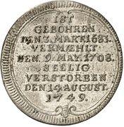 ⅛ Thaler - Georg Friedrich (Death) – reverse