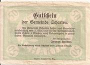 50 Heller (Scharten) -  reverse