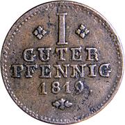 1 Pfennig - Wilhelm I – reverse