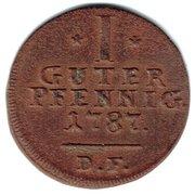 1 Pfennig - Wilhelm IX – reverse