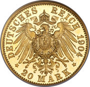 20 Mark - Albrecht Georg – reverse