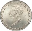 ½ Conventionsthaler - Georg Wilhelm – obverse