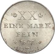 ½ Conventionsthaler - Georg Wilhelm – reverse