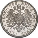 2 Mark - Albrecht Georg – reverse