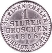 1 Silber Groschen - Georg Wilhelm – reverse