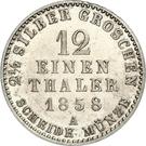 1/12 Thaler / 2½ Silbergroschen - Georg Wilhelm – reverse