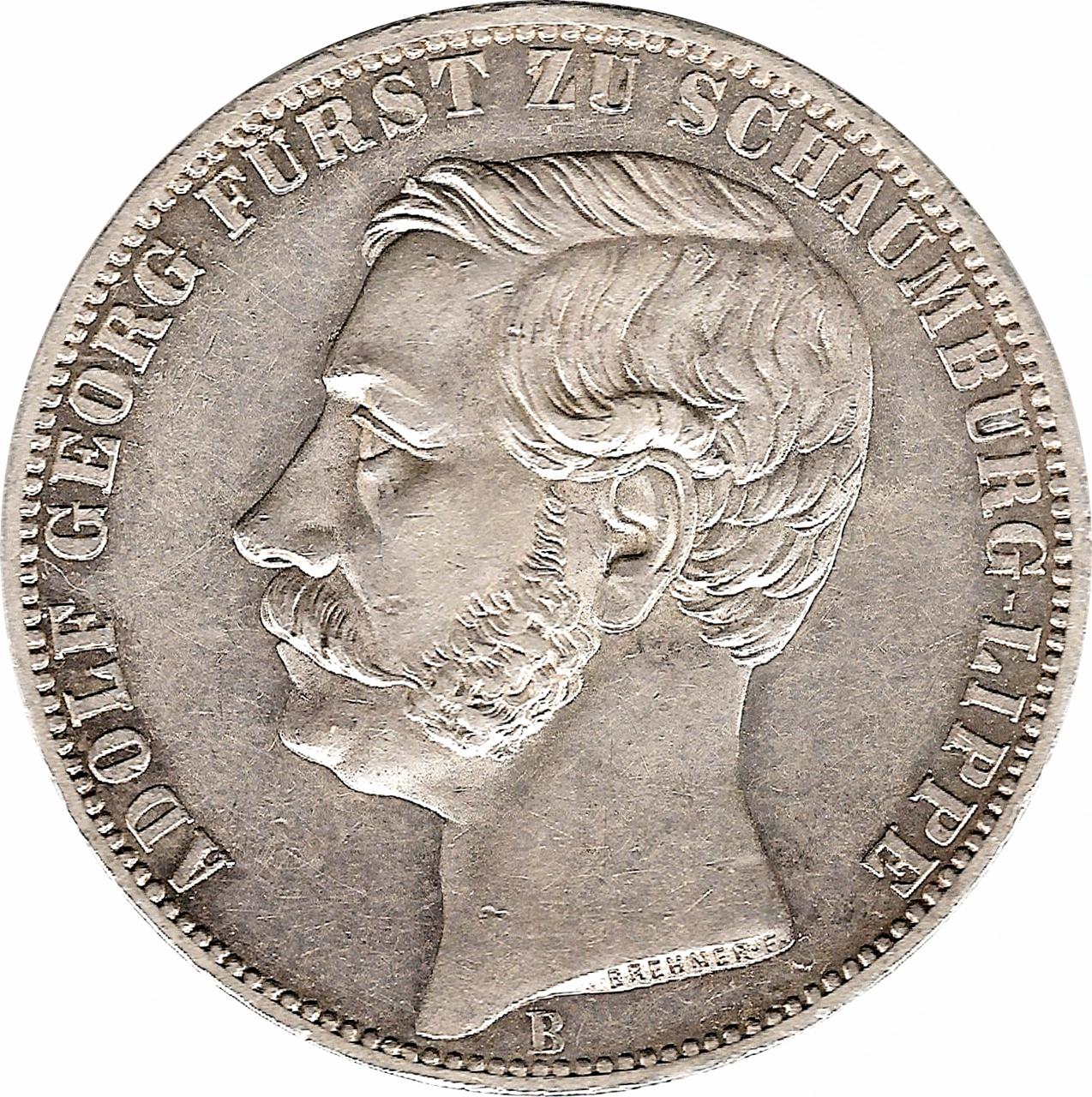 1 vereinsthaler adolf georg principality of schaumburg for Table 52 schaumburg