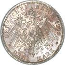 3 Mark - Albrecht Georg – reverse