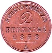 2 Pfennig - Georg Wilhelm – reverse