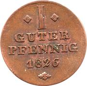 1 Pfennig - Georg Wilhelm – reverse