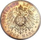 5 Mark - Albrecht Georg – reverse