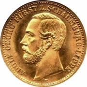 20 Mark - Adolf Georg – obverse