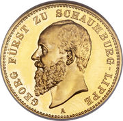 20 Mark - Albrecht Georg – obverse
