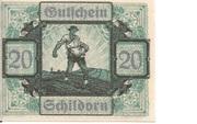 20 Heller (Schildorn) – obverse
