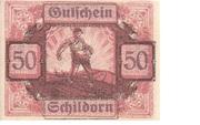50 Heller (Schildorn) – obverse