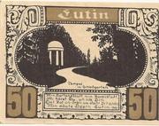 50 Pfennig (Plön; Ost-Holsteinisches Tageblatt und Plöner Zeitung) – reverse
