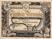 50 Pfennig (Plön; Ost-Holsteinisches Tageblatt und Plöner Zeitung) – obverse