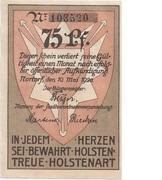 75 Pfennig (Nortorf) – obverse