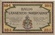 20 Pfennig (Langeness-Nordmarsch) – obverse