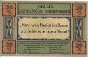 30 Pfennig (Langeness-Nordmarsch) – obverse