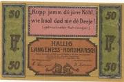 50 Pfennig (Langeness-Nordmarsch) – obverse