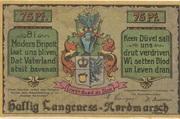 75 Pfennig (Langeness-Nordmarsch) – obverse