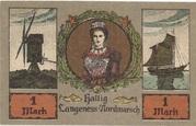 1 Mark (Langeness-Nordmarsch) – obverse