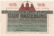 25 Pfennig (Ratzeburg) – reverse