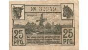 25 Pfennig (Wilster; Sparkasse) – reverse