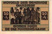 50 Pfennig (Garstedt in Holstein) – reverse