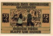 75 Pfennig (Garstedt in Holstein) – reverse