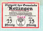 25 Pfennig (Rellingen) – obverse