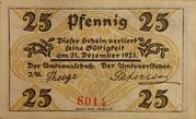 25 Pfennig (Klein Nordende-Lieth) – reverse
