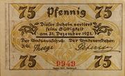 75 Pfennig (Klein Nordende-Lieth) – reverse