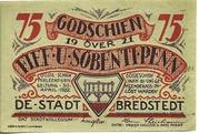 75 Pfennig (Bredstedt) – obverse