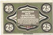 25 Pfennig (Langelohe) – obverse