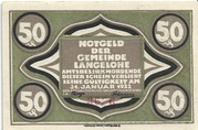50 Pfennig (Langelohe) – obverse