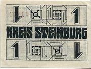 1 Mark (Kreis Steinburg) – reverse