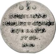 5 Schilling Courant / 1/12 Rigsdaler Specie - Christian VII – reverse