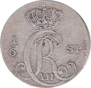 10 Schilling Courant / ⅙ Specie - Christian VII – obverse