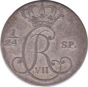 2½ Schilling Courant / 1/24 Rigsdaler Specie - Christian VII – obverse