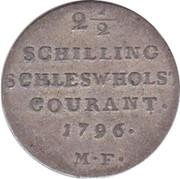 2½ Schilling Courant / 1/24 Rigsdaler Specie - Christian VII – reverse