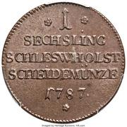 1 Sechsling - Christian VII – reverse