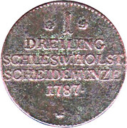 1 Dreiling - Christian VII – reverse