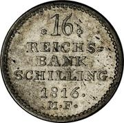 16 Reichsbank Schilling - Frederik VI – reverse
