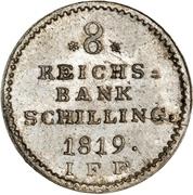 8 Reichsbank Schilling - Frederik VI – reverse