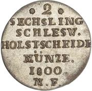2 Sechsling - Christian VII – reverse