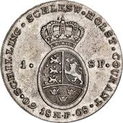 1 Speciedaler - Christian VII – reverse