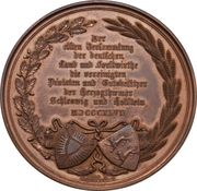 Medal - 11th Assembly of farmers and foresters of the duchies of Schleswig and Holstein (Type 1) – reverse