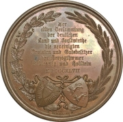 Medal - 11th Assembly of farmers and foresters of the duchies of Schleswig and Holstein (Type 2) – reverse